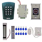 Fenteer Door Entrance Safety Home Door Security System Kits Magnetic Access Control with PFID ID Card Reader