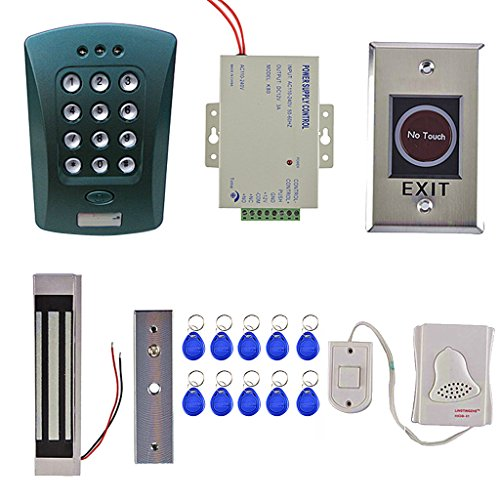 Fenteer Door Entrance Safety Home Door Security System Kits Magnetic Access Control with PFID ID Card Reader by Fenteer
