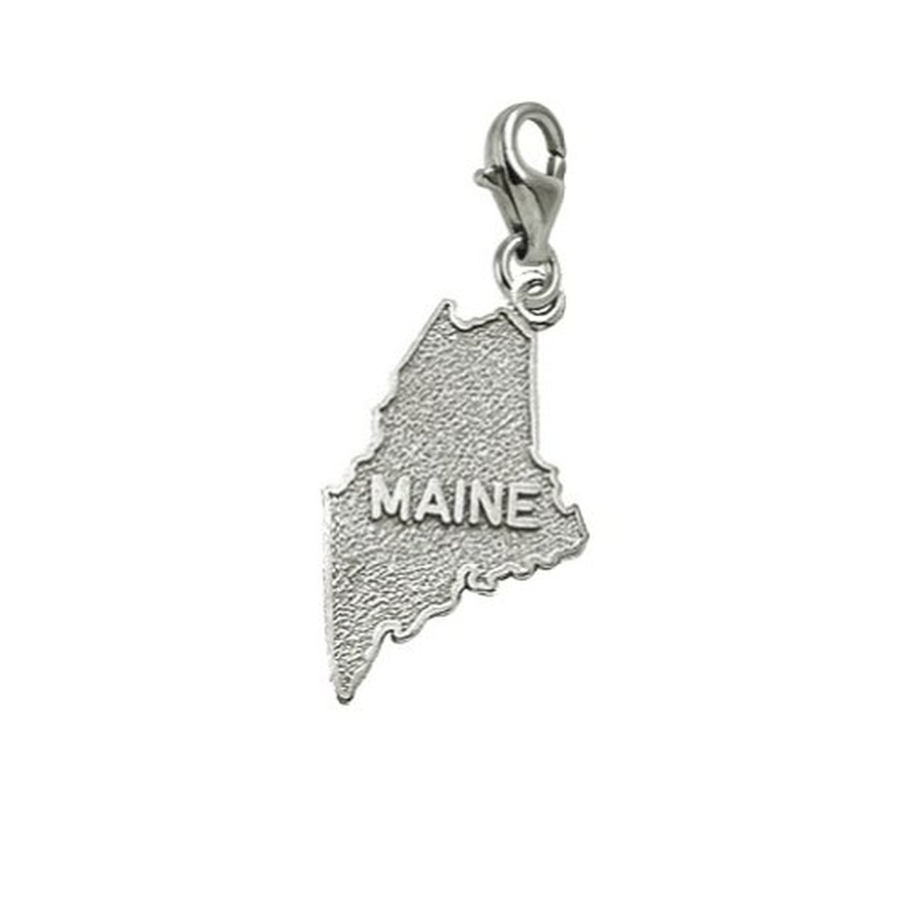 Maine Charm With Lobster Claw Clasp Charms for Bracelets and Necklaces