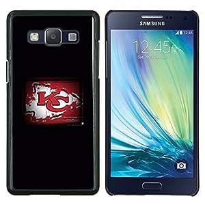 KC Grunge- Metal de aluminio y de plástico duro Caja del teléfono - Negro - Samsung Galaxy A5 / SM-A500