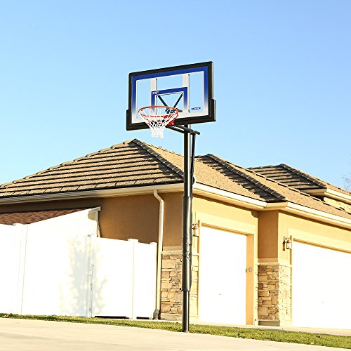Lifetime 90020 Height Adjustable In Ground Basketball System, 48 Inch Shatterproof Backboard
