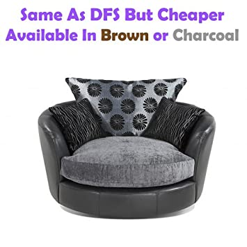 Excellent Swivel Chair Fabric Leather Sofa Like Dfs But Cheaper Bralicious Painted Fabric Chair Ideas Braliciousco