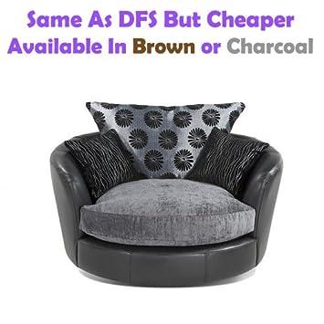 Swivel Chair Fabric Leather Sofa Like Dfs But Cheaper