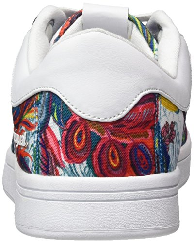 Desigual Basket Blanc Shoes Bloom white 1000 17wkrw29 Galactic Court rnarUWgqw