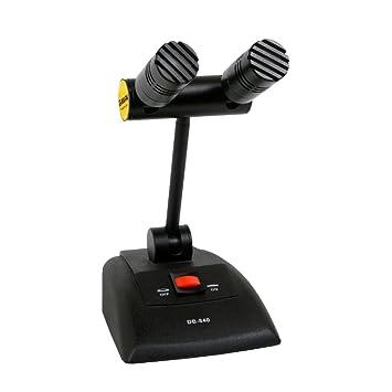 g-mark 840 profesional super en forma de corazón cuello de cisne micrófono de escritorio para conferencia micrófono condensador límite: Amazon.es: ...