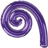 "14"" Kurly Spiral Purple Air-Fill Balloon - Pack of 5"
