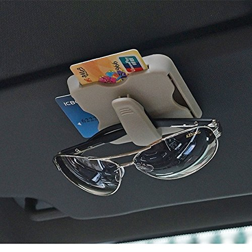 AUTLY Auto Sonnenblende Kartenhalter Organizer Sonnenbrille Brillenhalter mit Ticket Card Clip