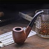 Free Boy Tobacco Pipe Handmade Wooden Bent Smoking