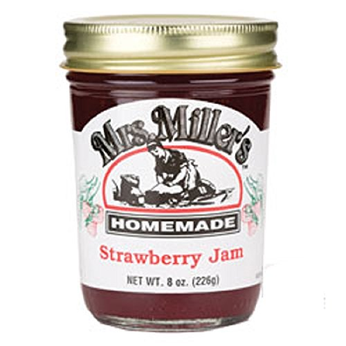 Mrs. Miller's Amish Homemade Jam, Strawberry, 24 Ounce by Mrs. Miller's
