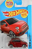Hot Wheels 2014 HW City Fiat 500 25/250, Maroon