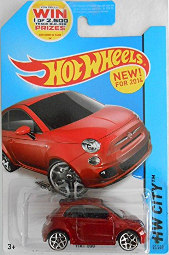 Hot Wheels 2014 HW City Fiat 500 25/250, Maroon