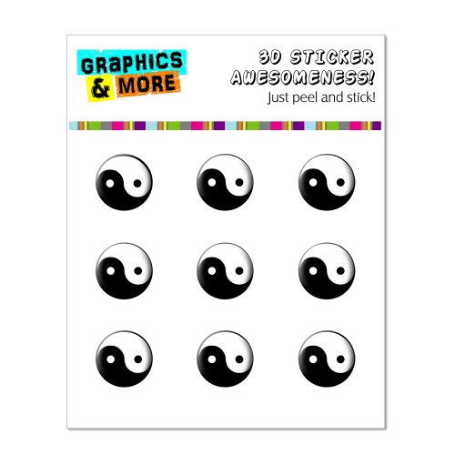 (Graphics and More Yin Yang Home Button Stickers Fits Apple iPhone 4/4S/5/5C/5S, iPad, iPod Touch - Non-Retail Packaging - Clear)
