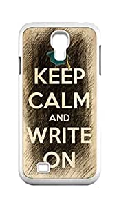 Cool Painting keep calm and write on Snap-on Hard Back Case Cover Shell for Samsung GALAXY S4 I9500 I9502 I9508 I959 -621