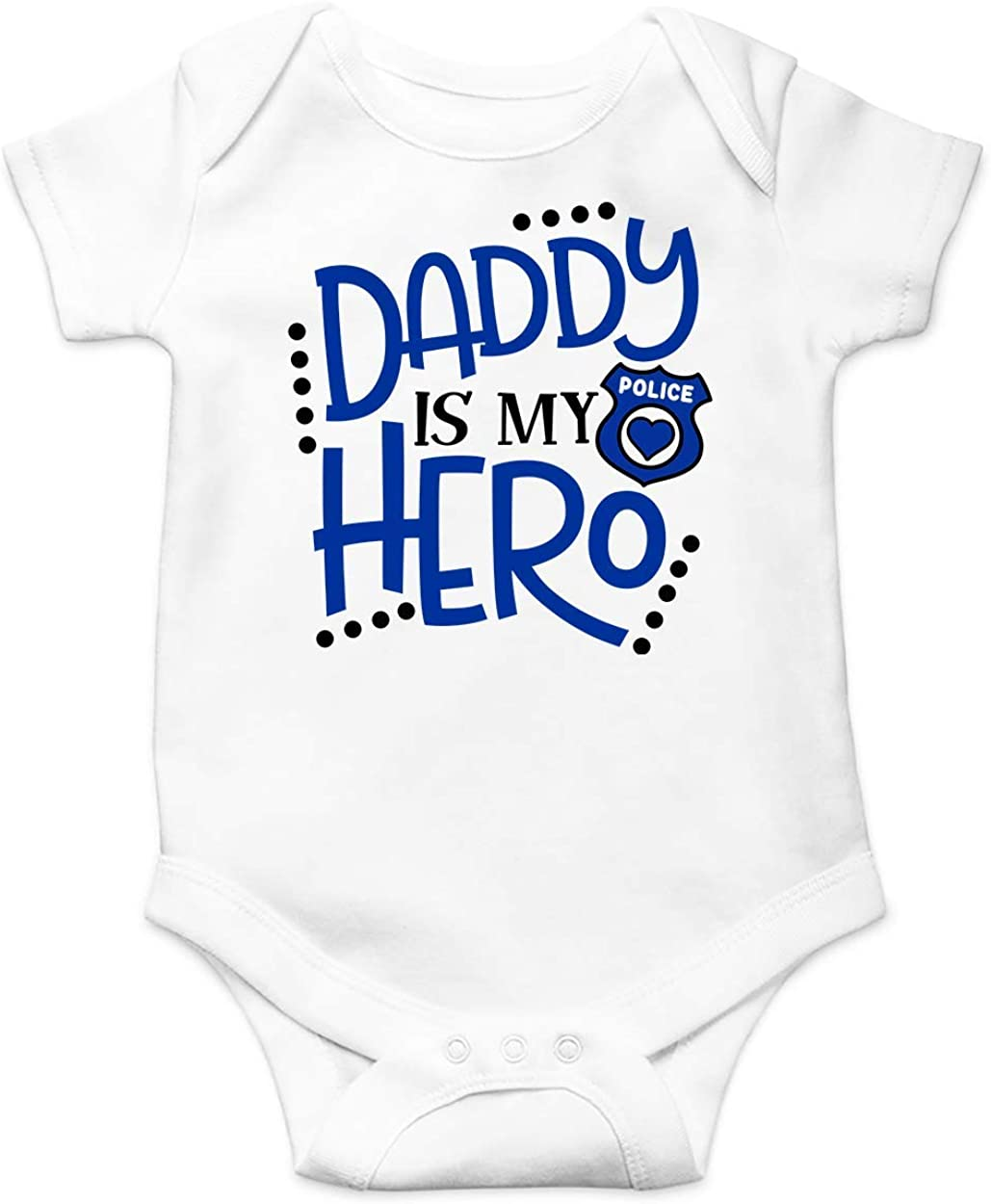 Amazon Com Dst Apparel Co Daddy Is My Hero Police Dad Job Pride Baby Bodysuit Toddler Outfit Infant Cloth Newborn Jumpsuit Clothing