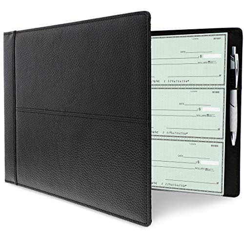 Juvale 7 Ring Business Check Binder, Holds 600 Checks, 3 on a Page, 14 x 2 x 10 Inches (Account Book 14)