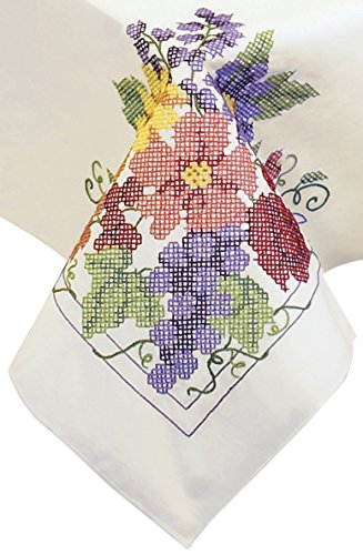 Stamped Cross Stitch Tablecloth - 4