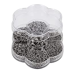 VALYRIA 1 Box Stainless Steel Open Jump Rings Diameter 3mm to 10mm about 2200pcs