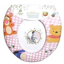 Disney Winnie The Pooh 'Pink' Kids Padded Toilet Seat Soft Potty Training Bath