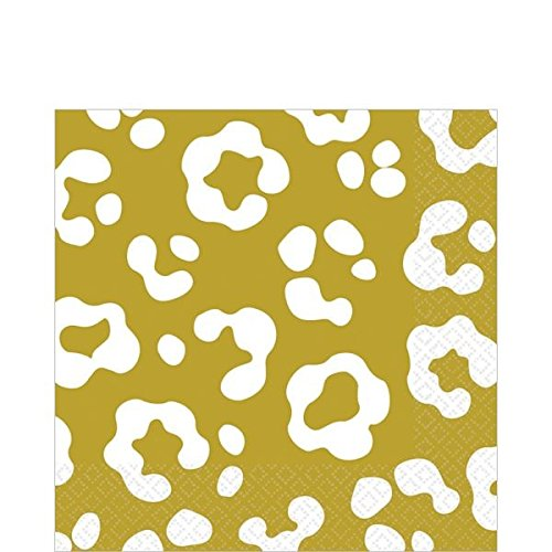 AMSCAN Disposable 2-Ply Lunch Napkins in Cheetah Print (1...