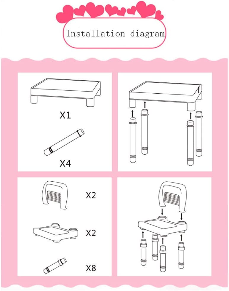 Plastic Kids Table and 2 Chairs Set for Boys or Girls US Stock Flexmus Childrens Study Table Set Pink