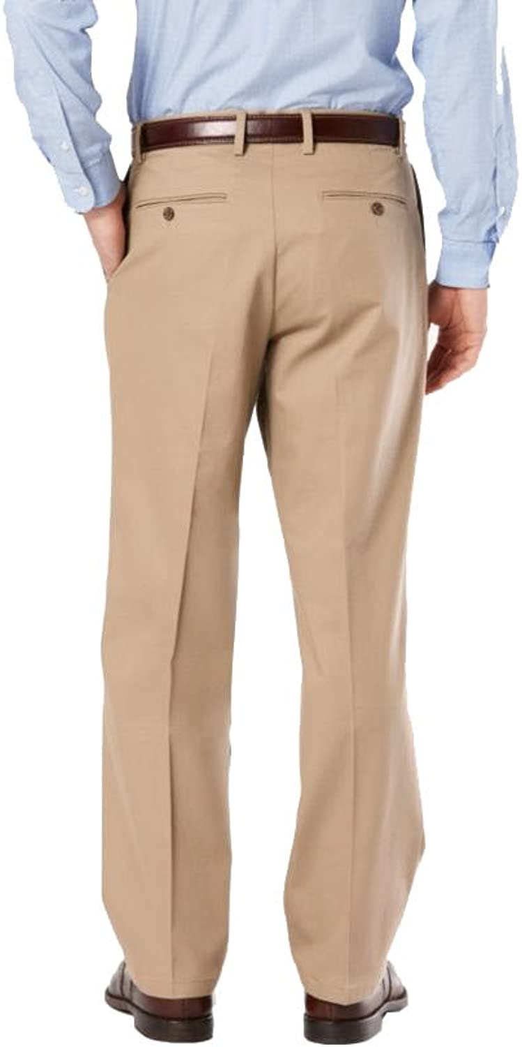 Pleated Dockers Mens Relaxed Fit Signature Khaki Lux Cotton Stretch Pants