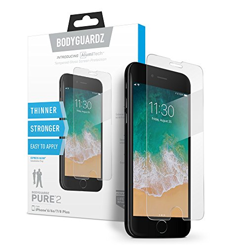 BodyGuardz - Pure 2 Glass Screen Protector, Ultra-thin Tempered Glass Screen Protection for Apple iPhone 6 Plus / 6s Plus / 7 Plus / 8 Plus