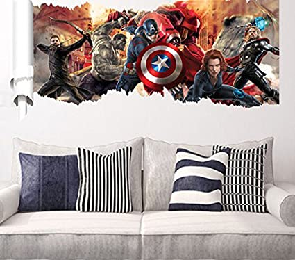 Buy GADGETS WRAP New Avengers Star Wars Sticker Kids Wall Stickers ...
