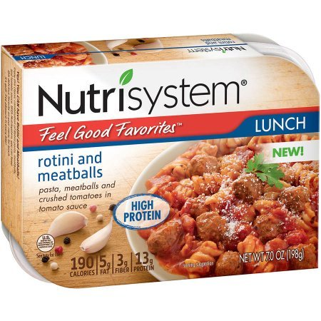 Nutrisystem Feel Good Favorites Rotini and Meatballs, 7 oz, (Pack of 6)