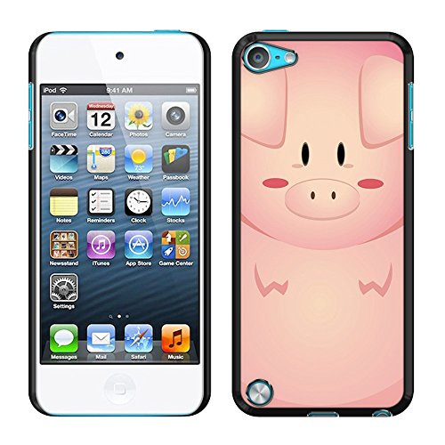 FINCIBO Case Compatible with Apple iPod Touch 5 6, Back Cover Slim Fit Hard Plastic Protector for iPod Touch 5 (5th Generation) iPod Touch 6 (6th Generation) - Pon Pon Pig (Pig Ipod Touch 5 Case)