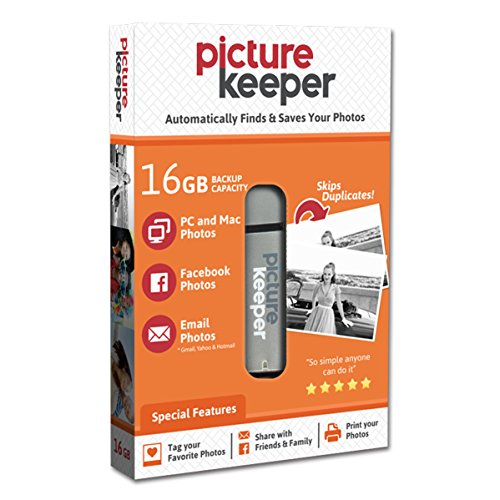Picture Keeper 16GB Portable USB Photo Backup and Storage Device for PC and MAC Computers (Card Device Backup Memory)