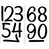 SEI números de 4 Pulgadas para Planchar, Color Negro, 2 Hojas
