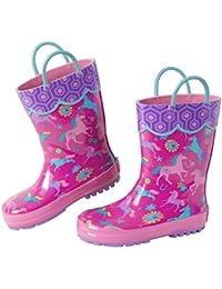 Girls' All Over Print Rain Boots