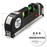 Multipurpose Laser Level laser measure Line 8ft+ Measure Tape Ruler Adjusted Standard and Metric Rulers Durable