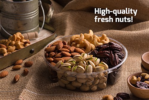 Nut Cravings Father's Day Gift Baskets - 4-Sectional Gourmet Mixed Nuts Prime Food Gift Tray - Healthy Holiday Gift Assortment For Birthday - Sympathy - Get Well - Corporate Gift Box - Or Any Occasion by Nut Cravings (Image #4)'