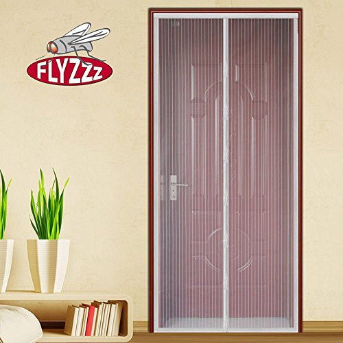 Flyzzz Magnetic Screen Door with Long Magnetic Strip, Hands-Free Mesh Screen Door, Keeps Mosquitoes and Bug Out Let Fresh Air in (Fits Doors Up to 35x94 Inches Max,White) by Flyzzz (Image #8)