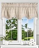 Ellis Curtain Morrison Multi Colored Plaid 100-Percent Cotton (Scallop Lined Valance, 70 x 17″, Natural) For Sale