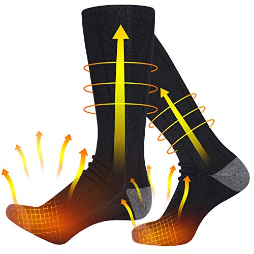 Verwarmde sokken, elektrische verwarmingskokken voor dames en heren, oplaadbare, batterij-aangedreven met 4500 mAh…