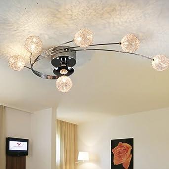 LightInTheBox Artistic Aluminum Flush Mount Lights With 6 Lights, Modern  Ceiling Light Fixture For Kitchen