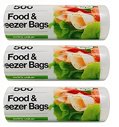 Tidyz - Bolsas para congelador de alimentos (1500, 3 ...
