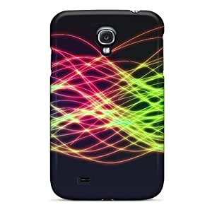 Slim Fit Tpu Protector Shock Absorbent Bumper Colorful Light Waves Case For Galaxy S4