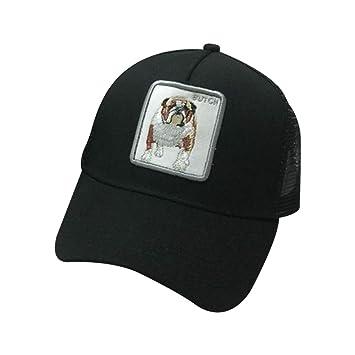 JAGETRADE Hombres Mujeres Parejas Gorra de béisbol de Verano Animales Parche Bordado Hip Hop Malla Patchwork Ajustable Snapback Trucker Hat 7 Estilos: ...