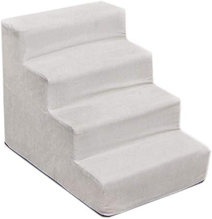 Escalera de Mascota Escaleras para Perros de 4 escalones para sofá Alto y Cama al Lado, Rampa portátil para Mascotas para Perros pequeños Estrechos, Alto 40 cm / 15,7 Pulgadas (Color : Grey): Amazon.es: Hogar