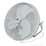 Tuff & Gusty TG18-3WW 18'' Economy Fixed-Mount Circulation Fan— 3040 CFM, 1/4 HP, 115 Volt