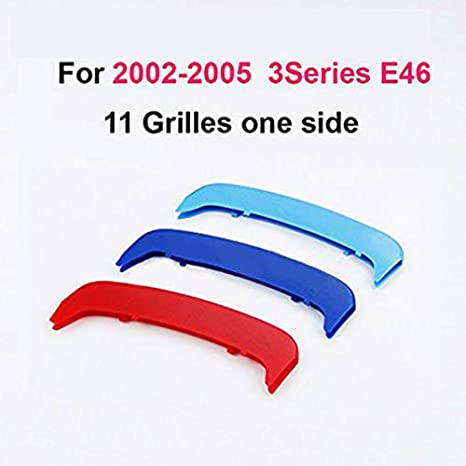 For 3 Series 2-Doors 2003-2006 M Colour Front Grille Grill Cover Insert Trim Clips
