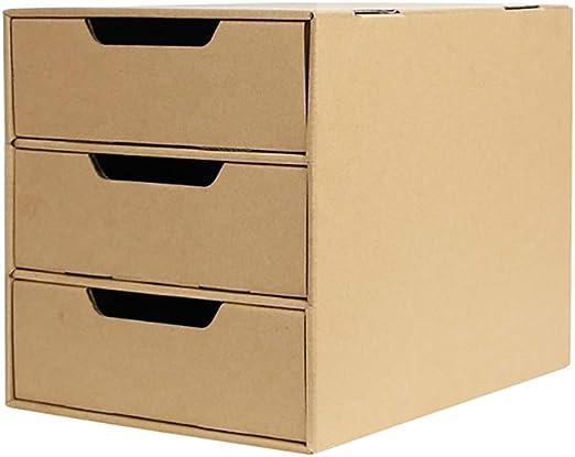 Archivadores con espiral Caja de almacenamiento de papel A4 de papel Kraft, caja de acabado de