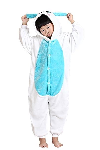 Auspicious beginning Conejo Azul Niños de Disfraces Cosplay Pijama Animal Onesie Sleepsuit Ropa de Dormir Ropa