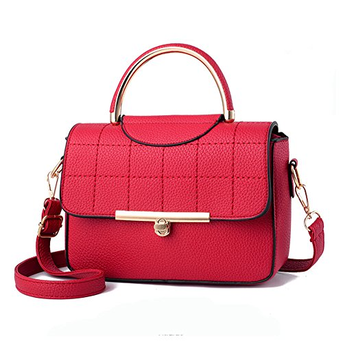 Women Ladies PU Leather Top Handle Bag - 5