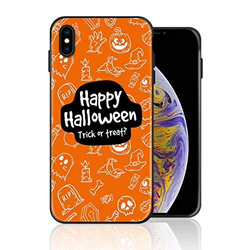 Silicone Case for iPhone 6s Plus and iPhone 6 Plus, Happy Halloween Trick or Treat Design Printed Phone Case Full Body Protection Shockproof Anti-Scratch Drop Protection Cover -