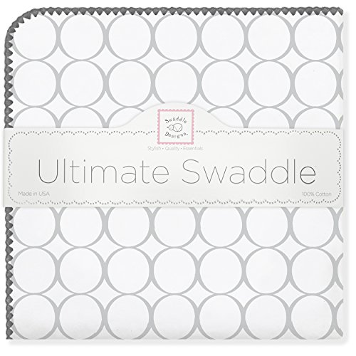 SwaddleDesigns Ultimate Swaddle Blanket Sterling