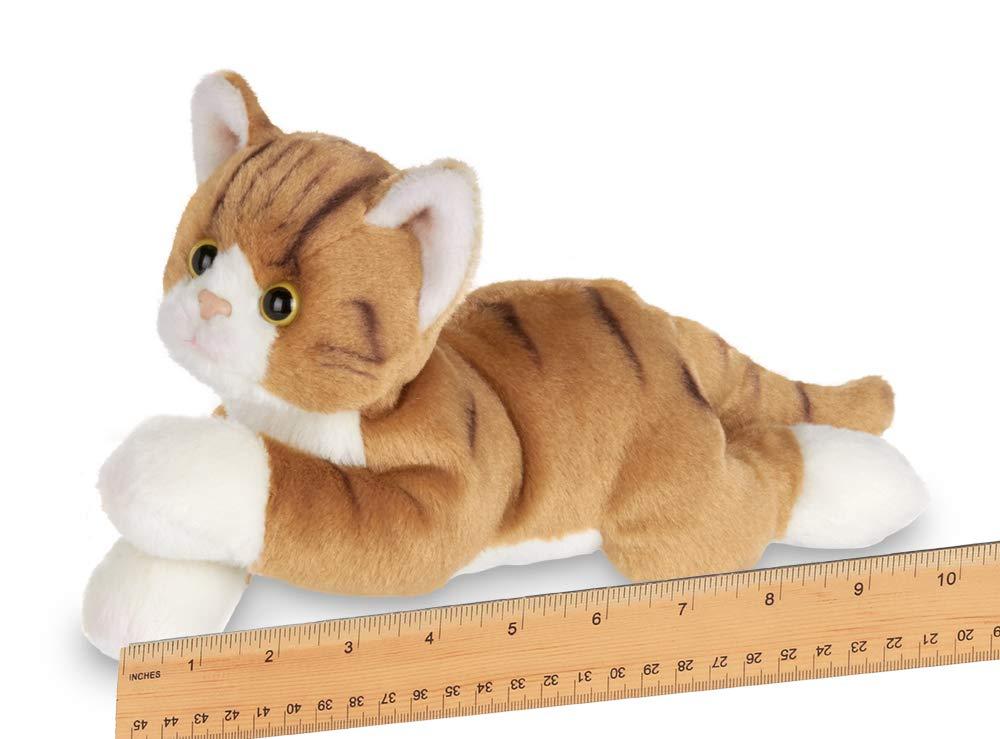 1f4d2c34374b Amazon.com: Bearington Lil' Tabby Small Plush Stuffed Animal Orange Striped Tabby  Cat, Kitten 8 inches: Toys & Games